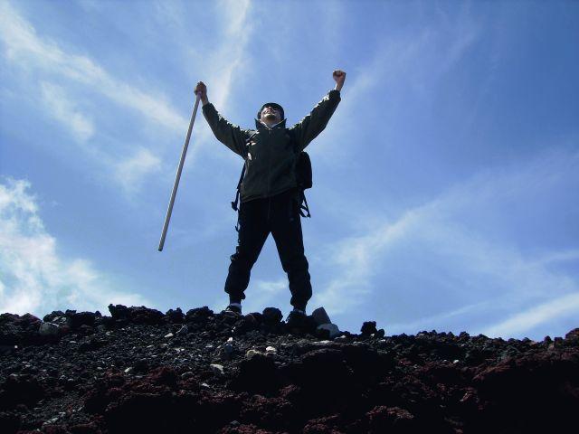 登頂の瞬間