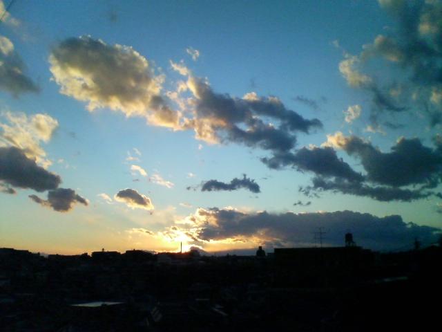 2007年大晦日の夕焼け